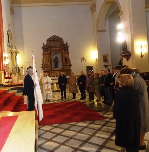 La Adoración Nocturna de Almería celebró la restauración de la Sección de Dalías