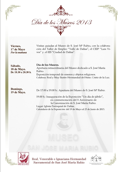 """cartel anunciador del """"Día de los Museos"""""""