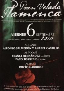 """Cartel del festival organizado por la Peña Flamenca """"La Victoria"""""""