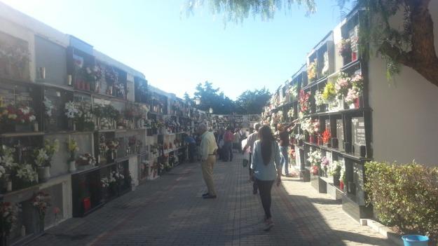 Una de las calles del cementerio en la mañana del 1-11-2013