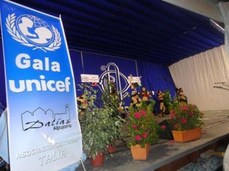 Escenario de la Gala Unicef en la Carpa del Casino de Dalías