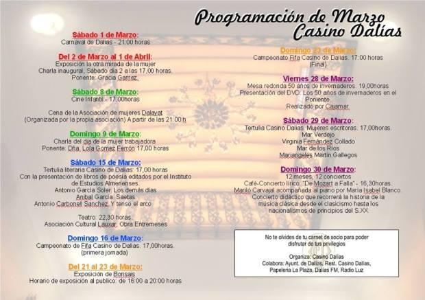 Cartel de actividades - Marzo 2014