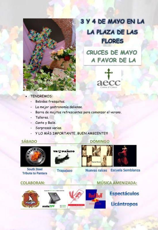 Cartel de la Cruz de Mayo de la AECC-Dalías