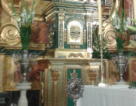 La Reliquia en la Iglesia de Celín