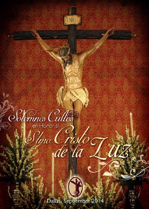 Portada del programa editad por la Hermandad del Santo Cristo de la Luz para las fiestas de 2014