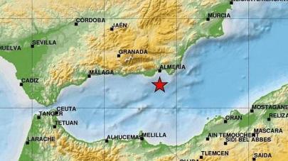 El epicentro de los terremotos esté junto al Mar de Alborán.