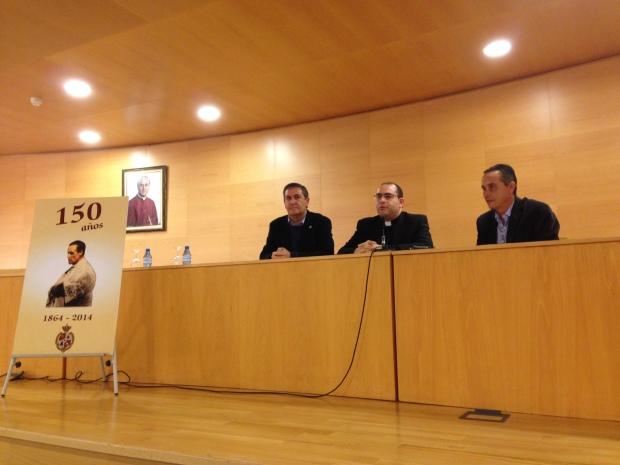 Gabriel Lirola junto a José Juan Alarcón Ruiz y Luciano Consuegra Rubio.