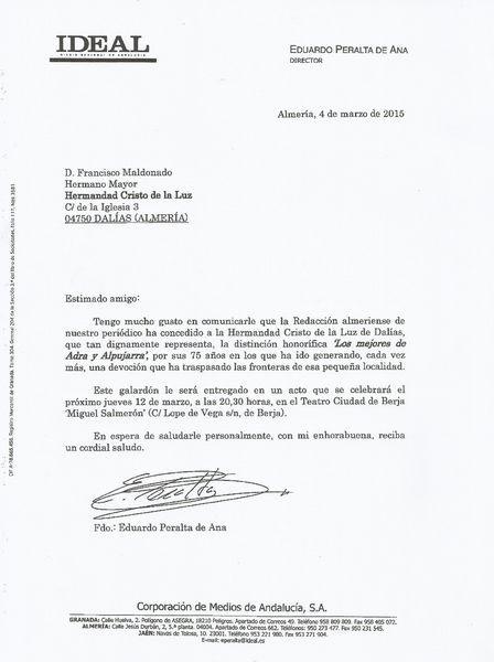 carta de comunicación