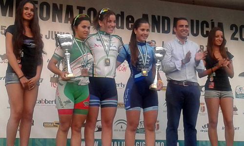 Foto de las ganadoras del a contrareloj del Campeonato de Andalucía