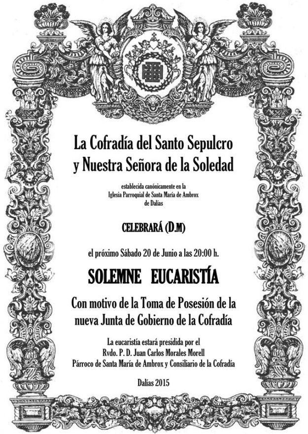 cartel anunciador de la toma de posesión