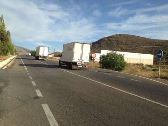 Tráfico en la Carretera A-358