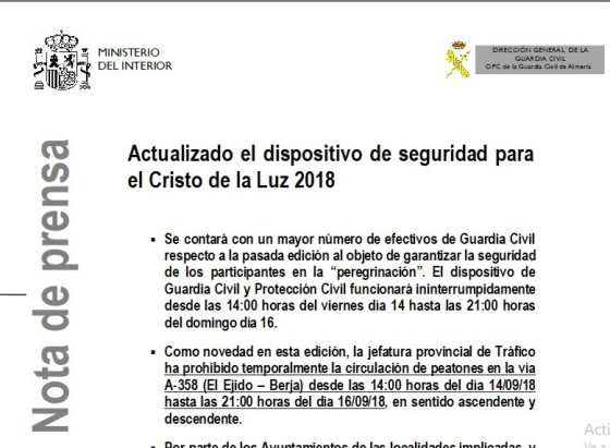 NOTA GUARDIA CIVIL